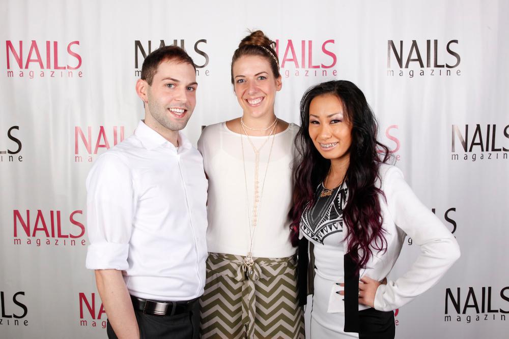 <p>NAILS Next Top Nail Artist top three: Buddy Sims, Lauren Wireman, and Ryoko Garcia</p>
