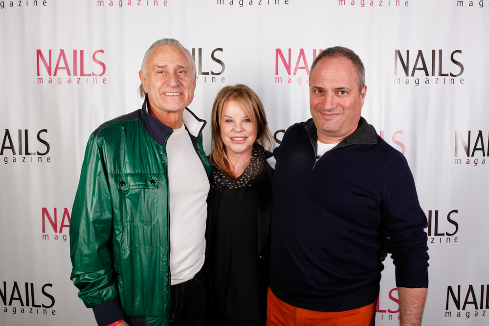 <p>Jeff Pink (founder of Orly), Elsbeth Schuetz, and John Galea</p>