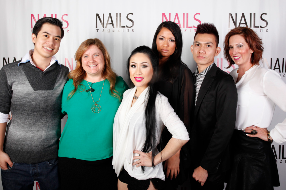 <p>Blossom Beauty Lounge's Tin Tin Bui, NAILS Hannah Lee, Blossom owner Cammy Nguyen, Nicole Goodwin, Brian Tran, and Shiloh Kitchen</p>