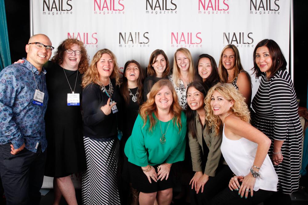 <p>The NAILS team gets serious: Jonathan Chang, Cyndy Drummey, Michelle Mullen, Beth Livesay, Brittni Rubin, Shannon Rahn, Yuiko Sugino, Mary Baughman, Carla Benavidez, Danielle Parisi, Kim Pham, and Hannah Lee</p>