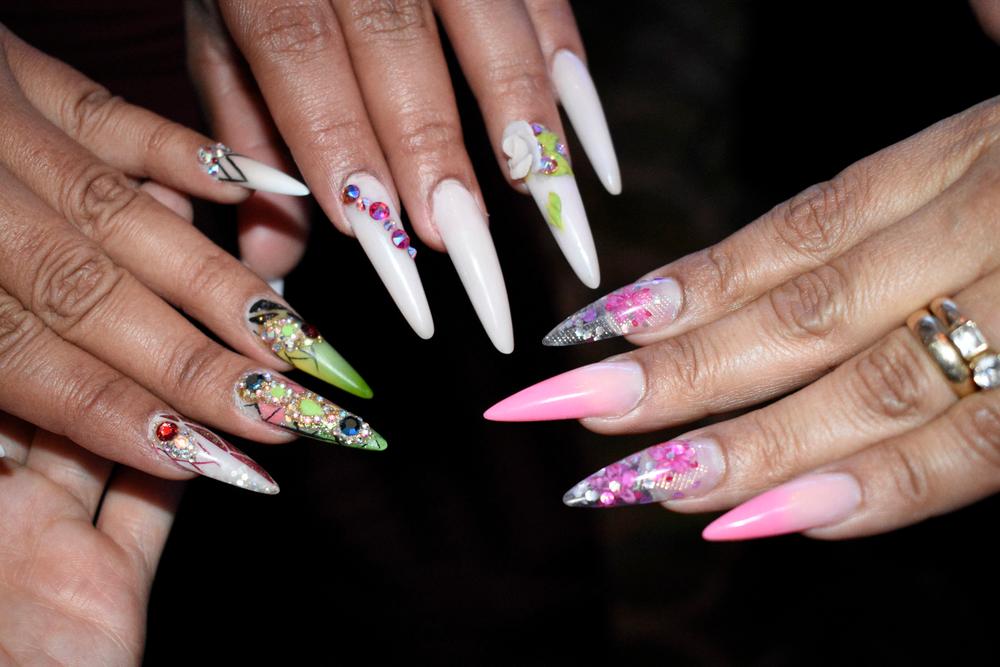 <p>Nails by Mimi Rodriguez, Becky Mendoza, and Faysuri Restrepo</p>