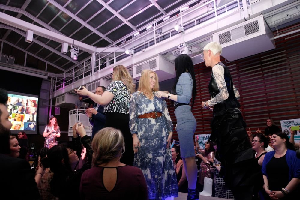 <p>Past finalists for NTNA come onstage</p>