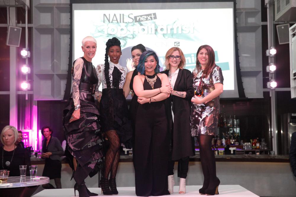 <p>NTNA winner Winnie Huang (front center) with Jan Arnold, Lavette Cephus, Sarah Elmaz (2nd runner up), Celina Ryden (1st runnerup), Beth Livesay</p>