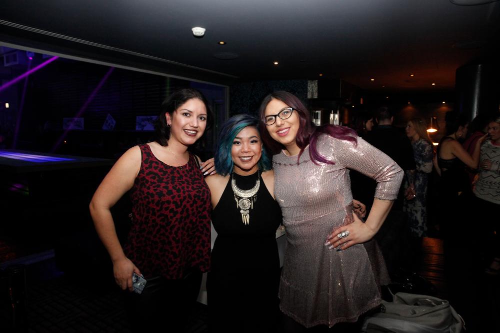 <p>Nikki Rios, Winnie Huang (center) and Ellegra Davis&nbsp;</p>