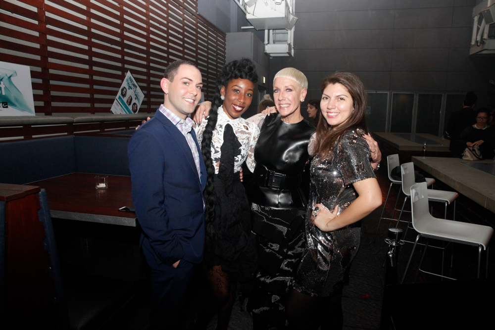 <p>NTNA 2014 finalist Buddy Sims, Lavette Cephus, CND's Jan Norman, NAILS' Beth Livesay</p>