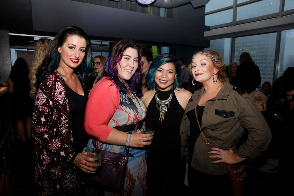 <p>Stephanie Fountain, Sabella Snyder, Winnie Huang, and Rhiannon Miles</p>