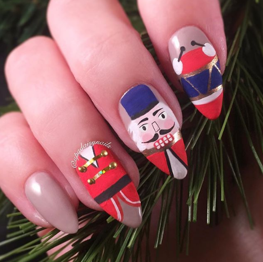 19 Nutcracker Nail Art Designs