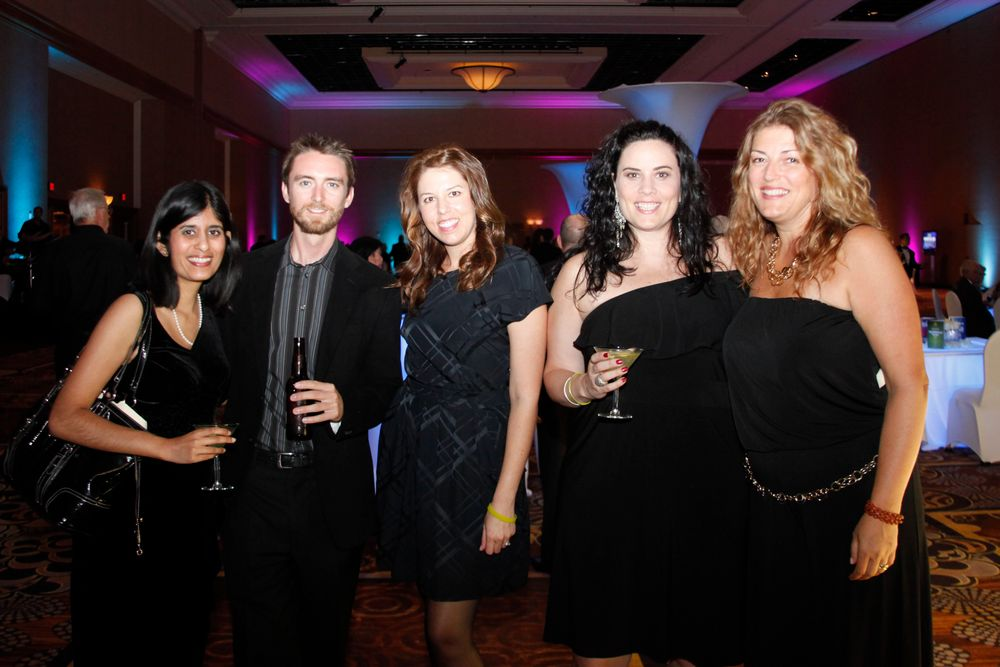 <p>NAILS' Sree Roy and Tim Crowley, Star's Arica Carpenter and Elaine Watson, and NAILS' Michelle Mullen</p>
