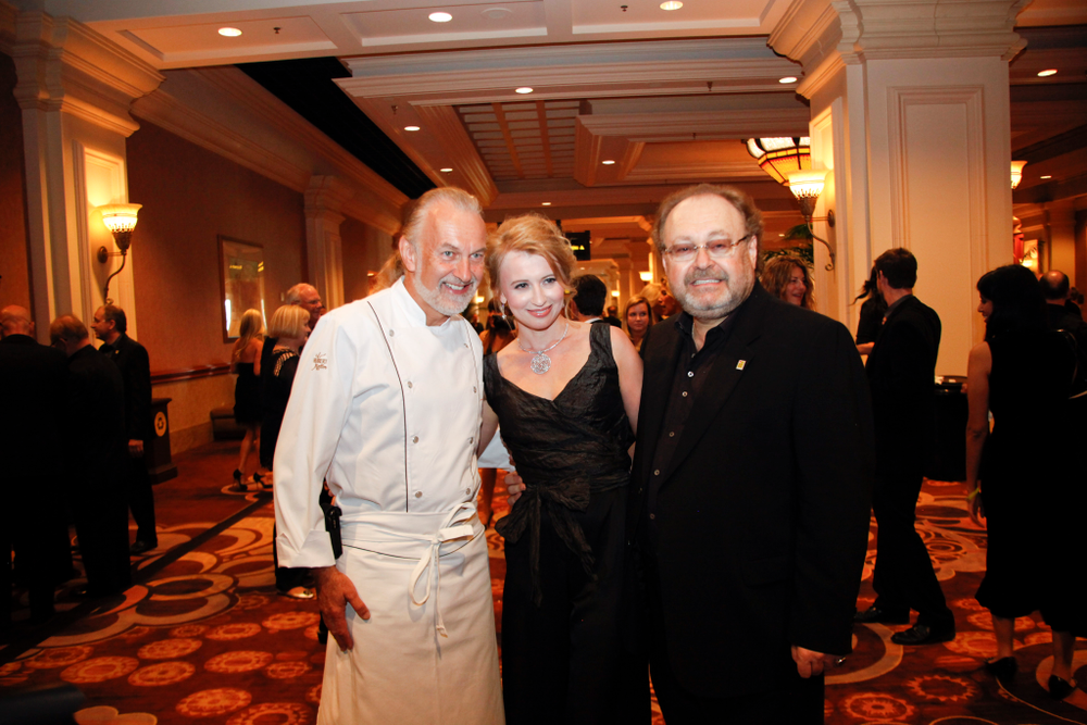<p>OPI Spirit of Life Honoree George Schaeffer and his wife Irina Afzal with celebrity chef Hubert Keller (left)</p>