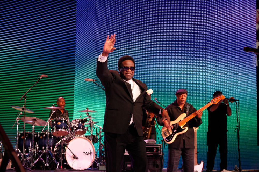 <p>The Reverend Al Green took the stage for a pre-dinner show.</p>