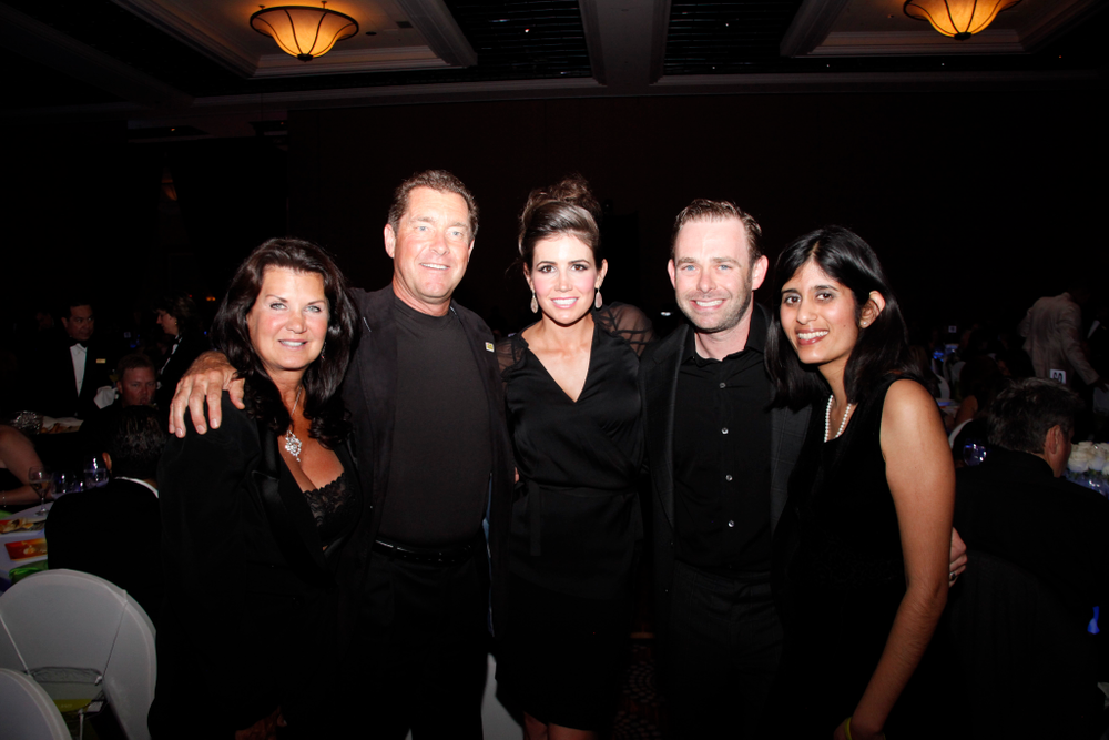 <p>Nadine and Ty Bobit with Diana and Robbie Schaeffer and Sree Roy</p>