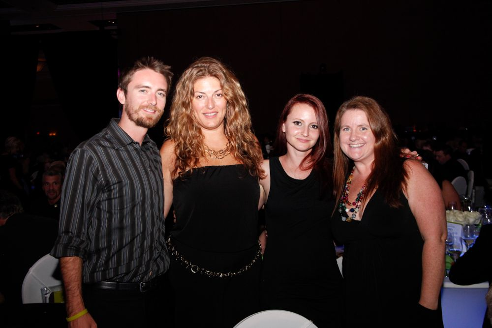 <p>Tim Crowley, Michelle Mullen, AII's Diana Duran, and Hannah Lee</p>