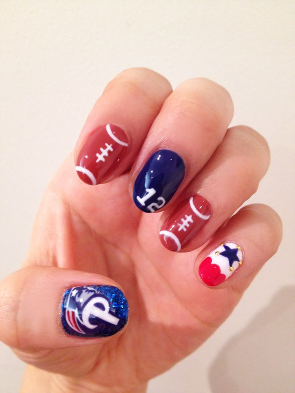 "<p>Patriots nails by&nbsp;Hiroko Fuijikawa.&nbsp;</p> <p>Get the step-by-step <a title=""super-bowl-nails"" href=""http://www.nailsmag.com/article/109860/nailgating-super-bowl-xlix-nail-art"" target=""_blank"">here</a>.&nbsp;</p>"