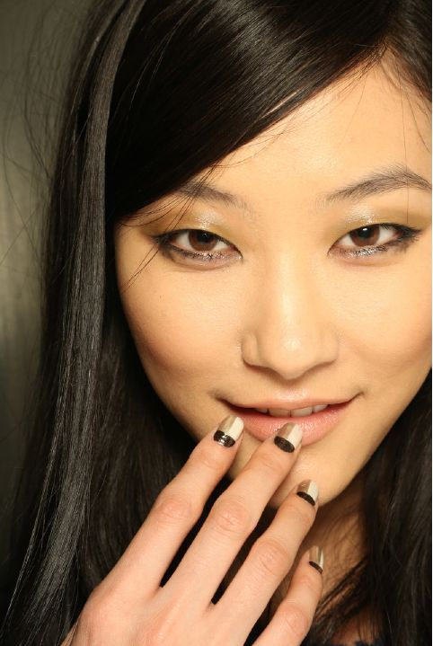 <p>The team at Zoya showed an elegant color block using a combination of three custom colors created exclusively for Peter Som. Photo courtesy of Zoya Nail Polish.</p>