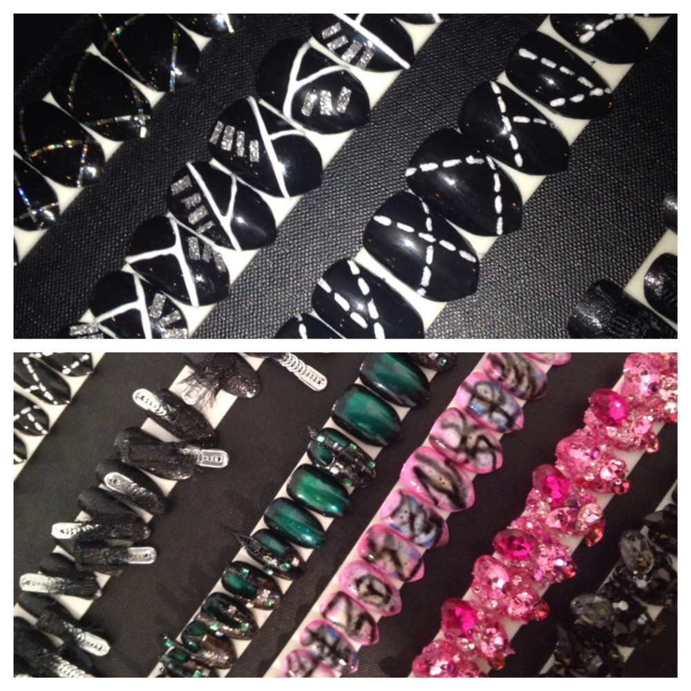<p>More bold and avant-garde custom nail designs by CND pros created exclusively for The Blonds NYFW runway show.</p>