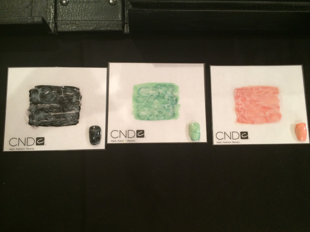<p>Swatches of the transfers created using CND Vinylux for the Opening Ceremony performance.&nbsp;</p>