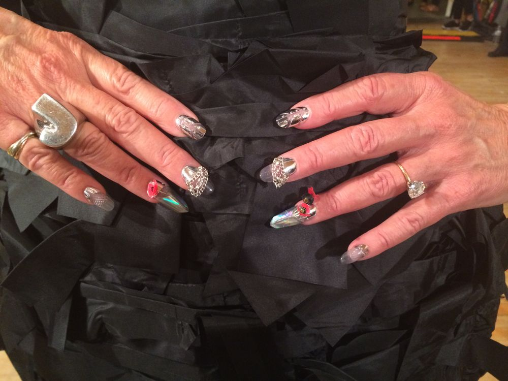 <p>Jan Arnold's armor nails done by Lauren Wireman.</p>