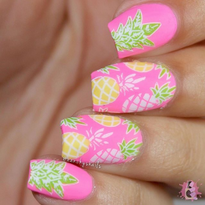 15 Pineapple Nail Art Designs