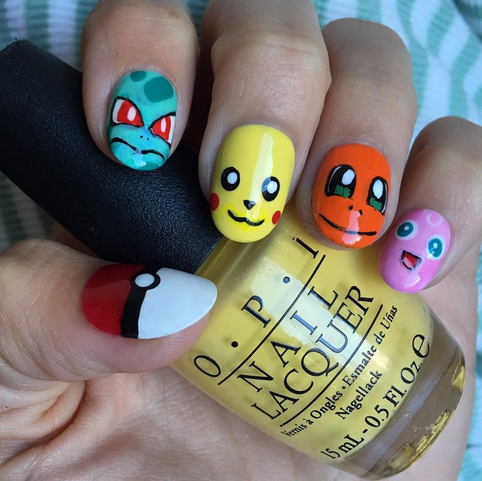"<p>Pokemon nails by <a href=""https://www.instagram.com/stephstonenails"">@stephstonenails</a></p>"