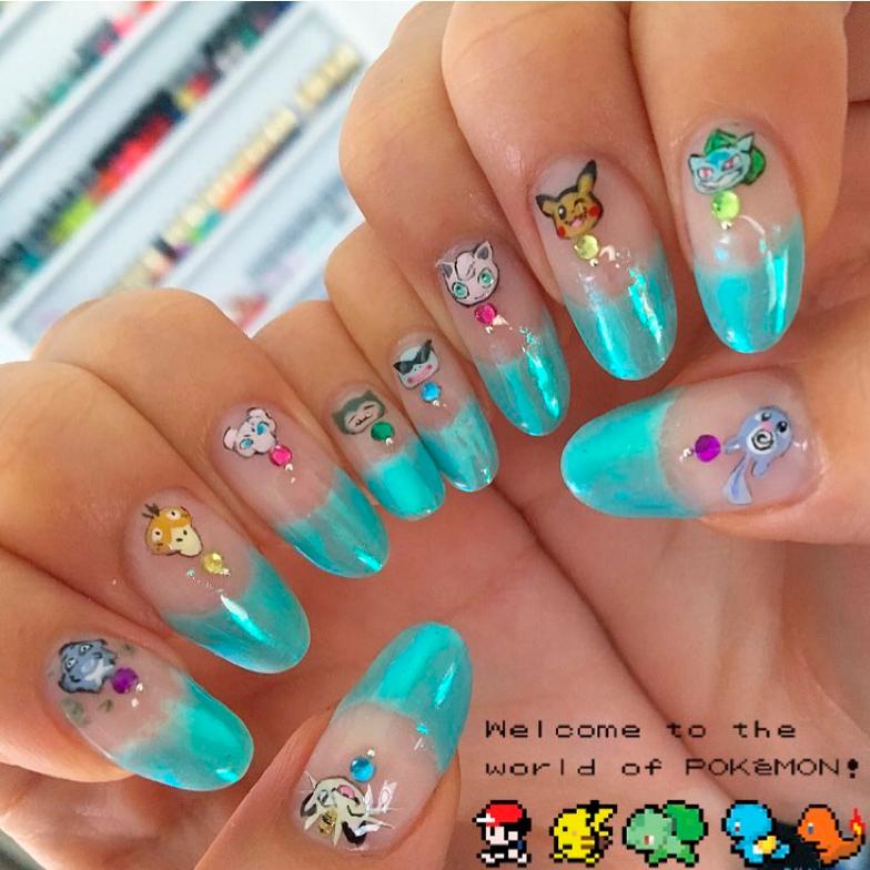 "<p>Pokemon nails by <a href=""https://www.instagram.com/p/BHsWlejj2mo/?tagged=pokemonnails"">@rosebnails</a></p>"