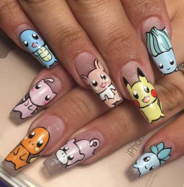 """<p>Pokemon nail art by <a href=""""https://www.instagram.com/nailzbylizlv"""">@nailzbylizlv</a></p> <p>&nbsp;</p>"""