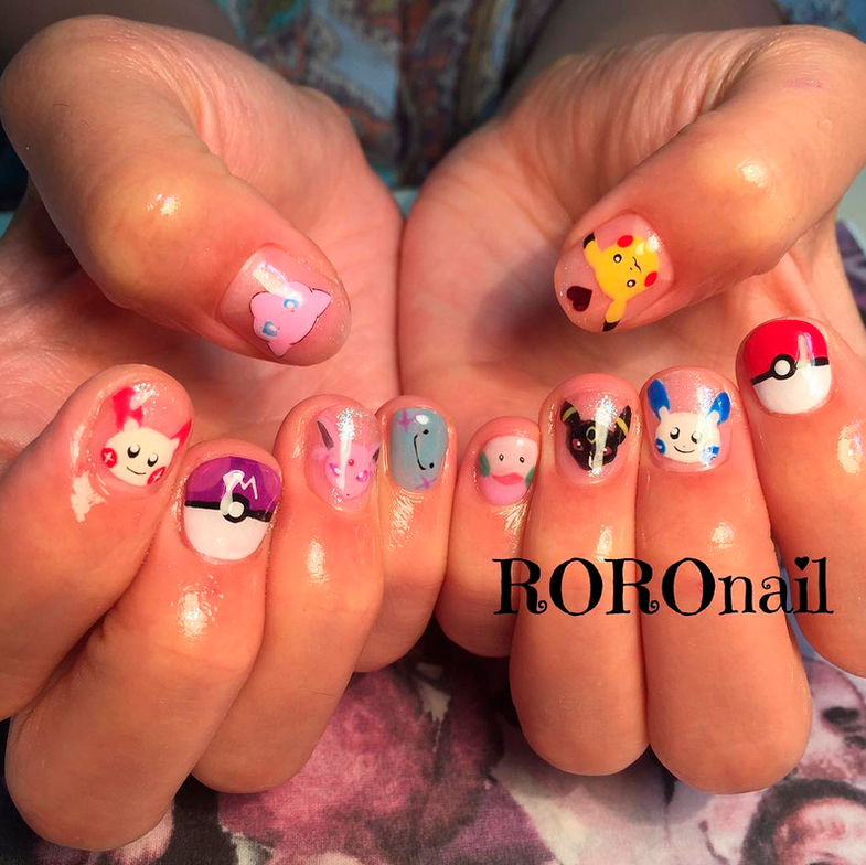"<p>Pokemon nails by <a href=""https://www.instagram.com/roro_nail/"">@roro_nail</a></p>"