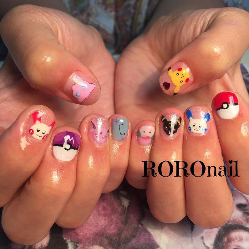 "<p>Pokemon nails by <a href=""https://www.instagram.com/roro_nail/"">@roro_nail</a></p>"