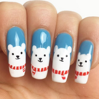 15 Polar Bear Nail Art Designs