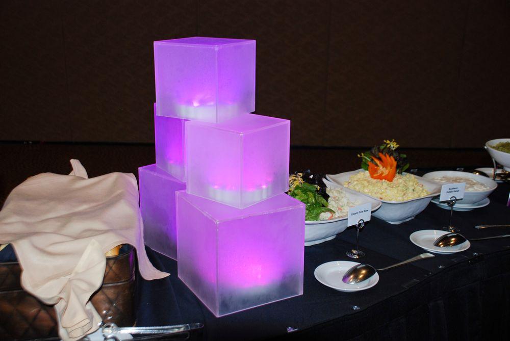 <p>Elegant buffet replaces the event's original barbecue</p>