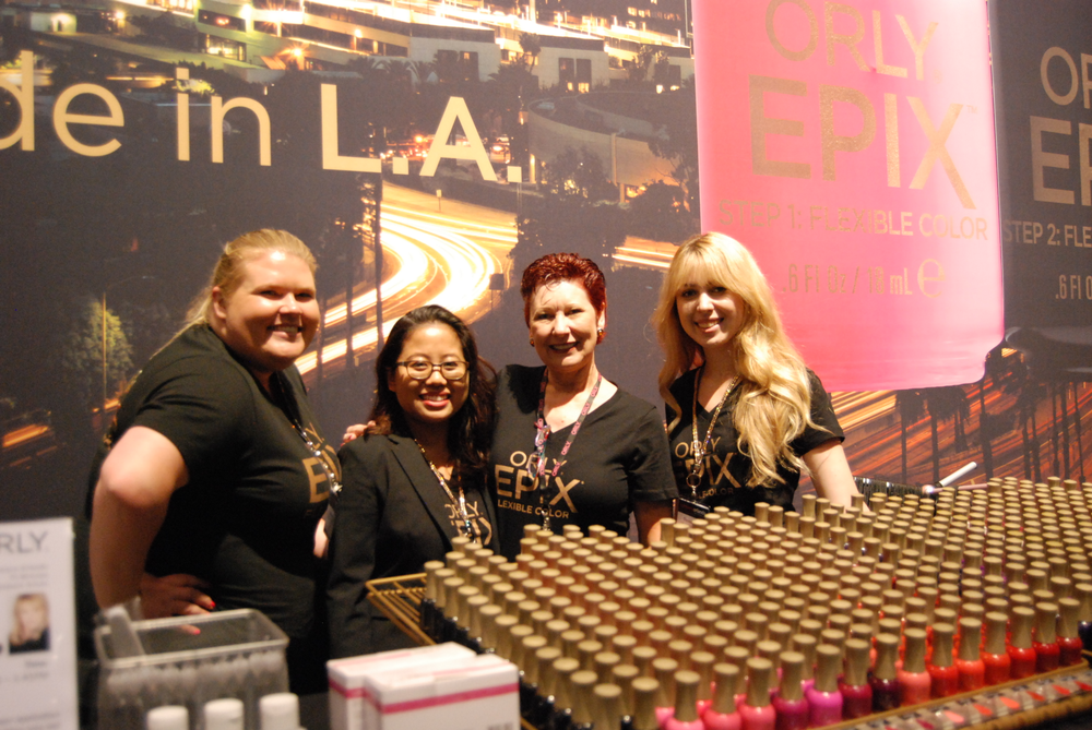 <p>Orly's Kelly Bannon, Shirley Crerig, Nadine Galli, and Denise Kelley</p>