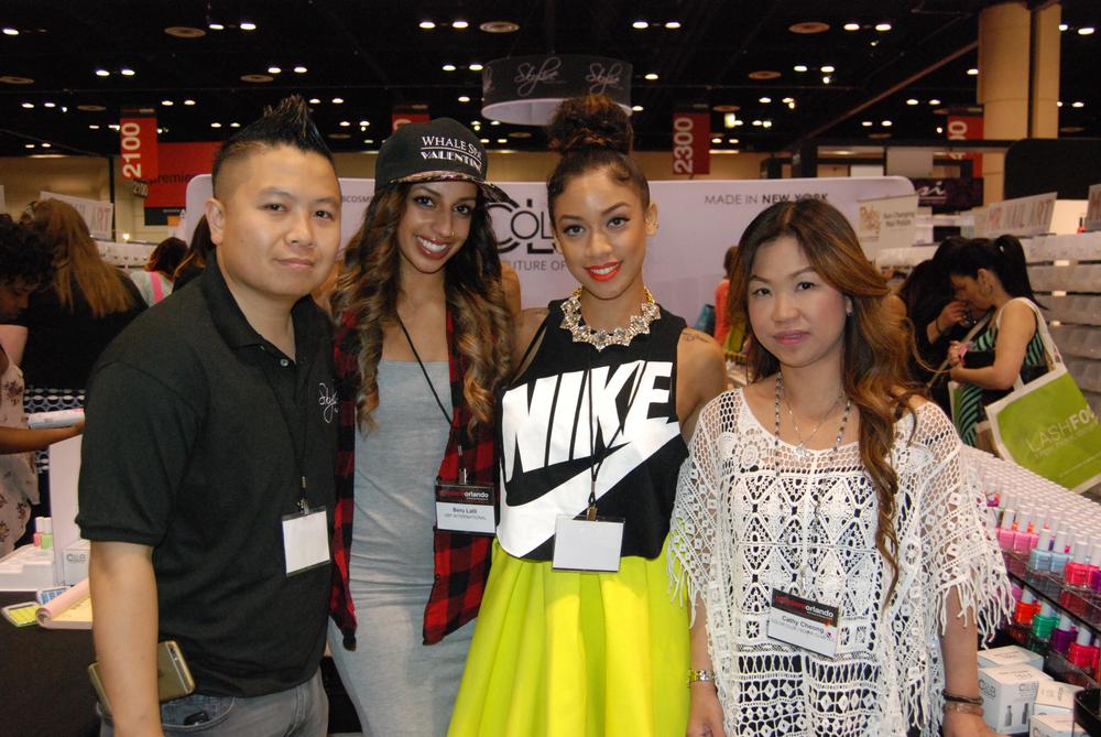 <p>Skyline Beauty Supply's David Ngo, Beru Lalli, Kandi Banks, and Cathy Cheoung</p>