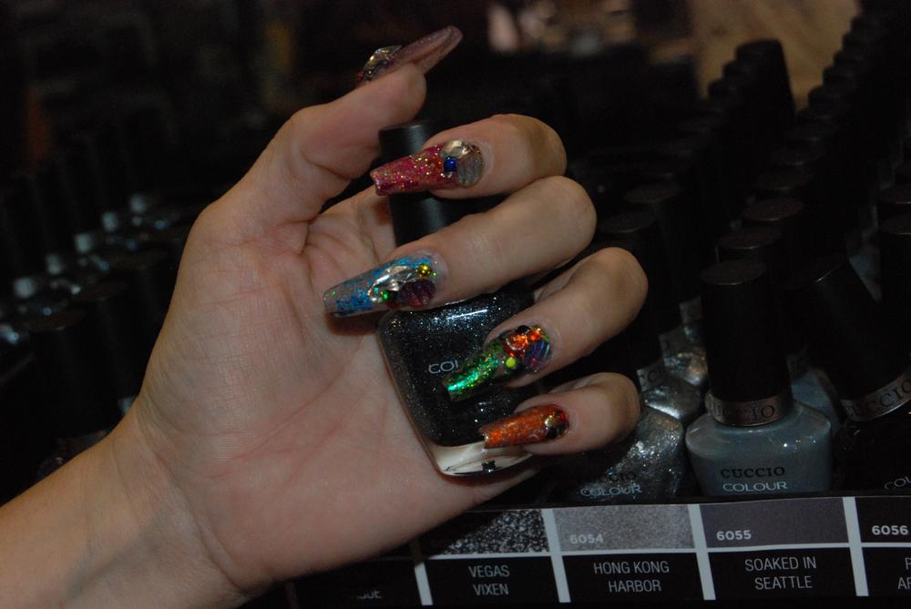 <p>Nails by Cuccio's Marilyn Garcia&nbsp;</p>