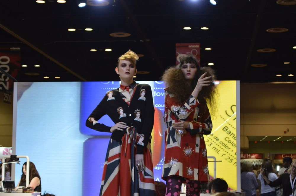 <p>British-inspired modeling at the CND booth.</p>