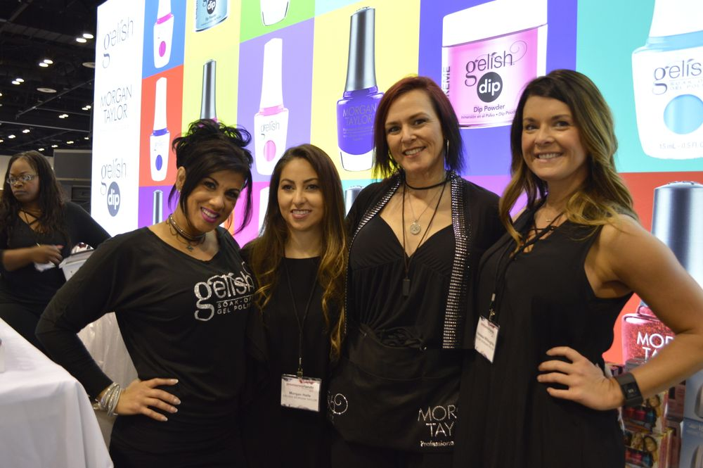 <p>Ritzi Gonzales, Morgan Haile, Danielle Candido, and Vanessa Willoughby of Gelish/Morgan Taylor.</p>
