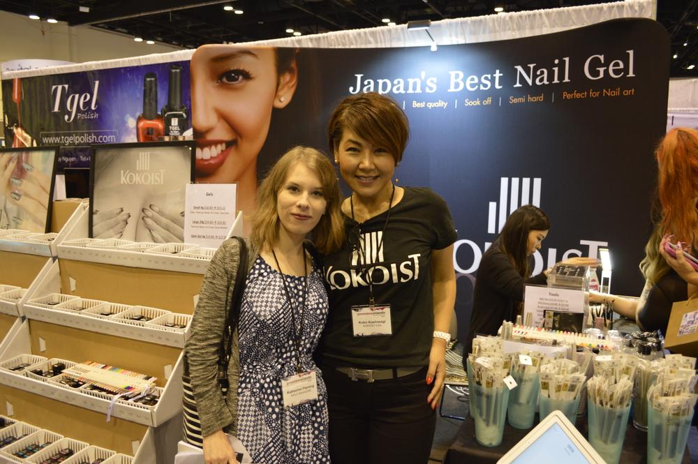 <p>NAILS editor Katherine Fleming with Koko Kashiwagi of Kokoist.</p>