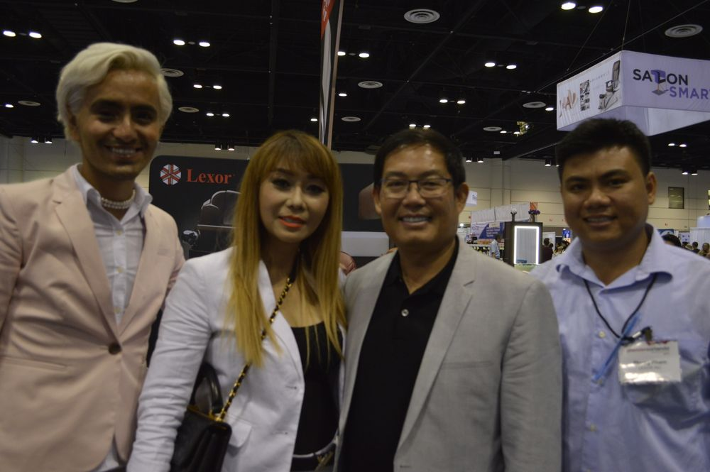 <p>The team at the Lexor booth.</p>