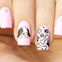 18 Cute Puppy Nail Art Designs