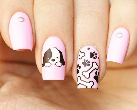 18 Cute Puppy Nail Art Designs