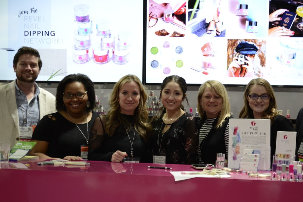 <p>Revel Nail's Reed Sutton, Amy Dion, Lyndsey Henderson, Itzel Redondo, and Krista Kenney.</p>