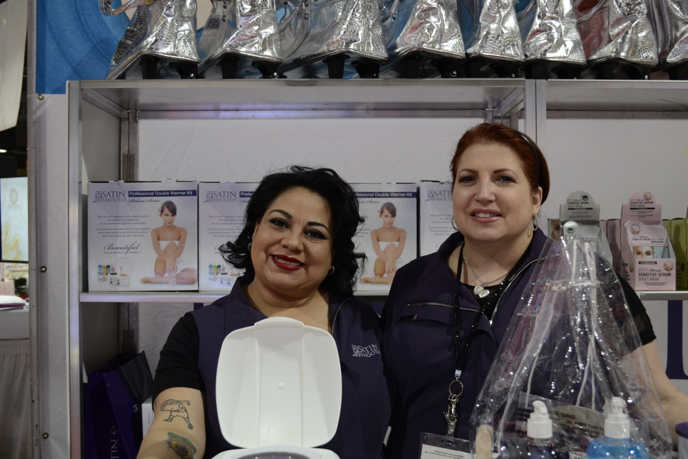 <p>Marissa Cervantes and Mary Anne Efe of Satin Smooth.</p>