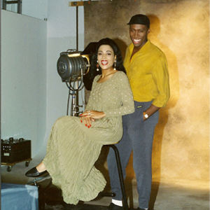 Flo-Jo and her husband Al.