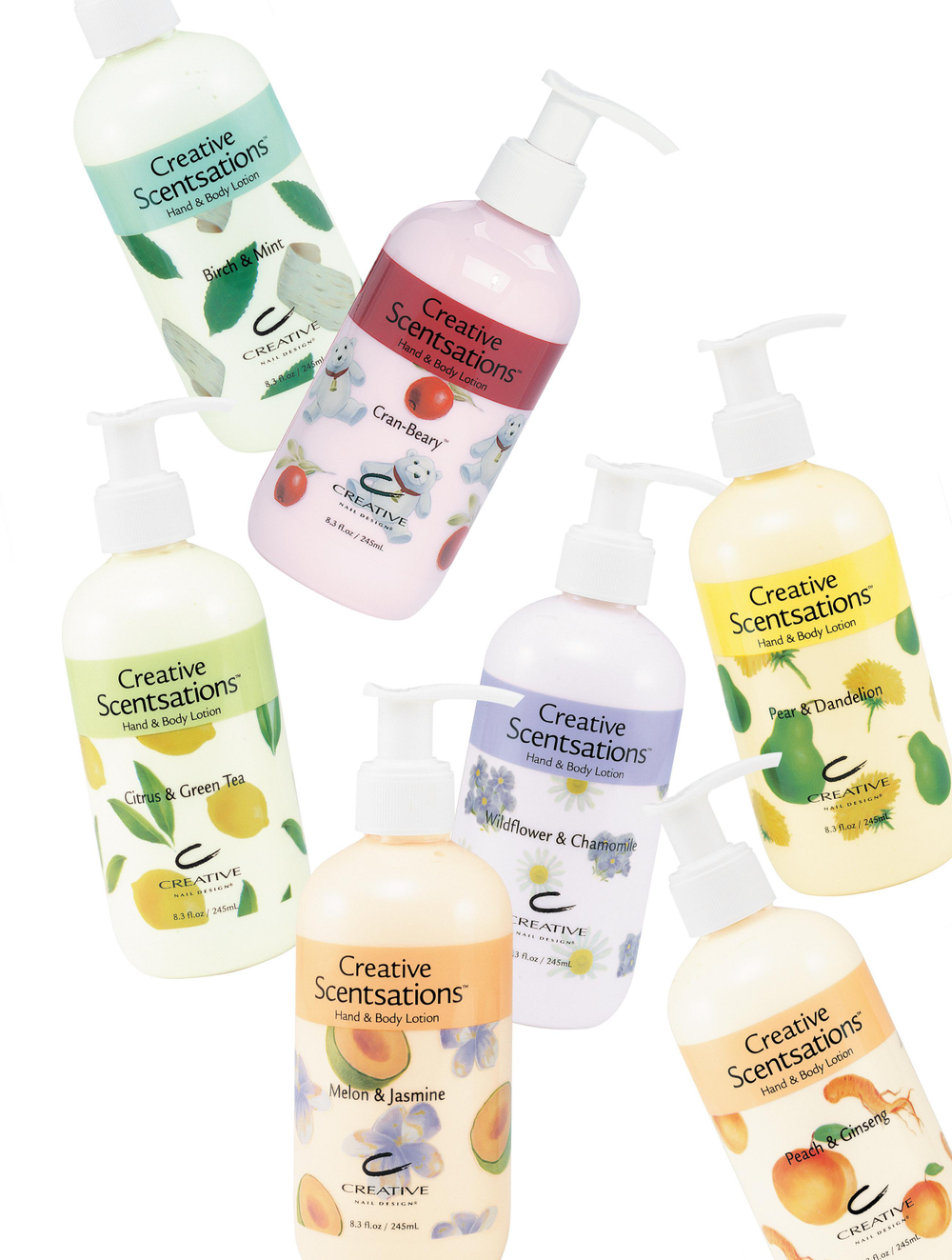 <p><strong>2004 Favorite Lotion for Hands and Body: Creative Nail Design Scentsations Hand and Body Lotions</strong></p> <p>2nd: Creative Nail Design Solar Butter; 3rd: OPI Avojuice; 4th: Creative Nail Design Solar Silk; 5th: OPI Avoplex Moisture Replenishing Lotion</p>