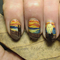 Celebrate Edvard Munch's Birthday With Nail Art Worth Screaming About