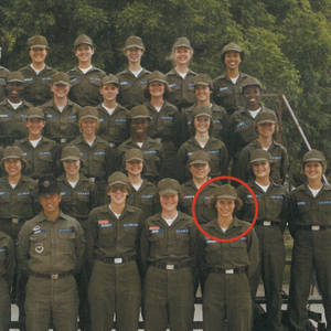 Terri Taricco pictured here with her Air Force squadron, followed in her family's military...