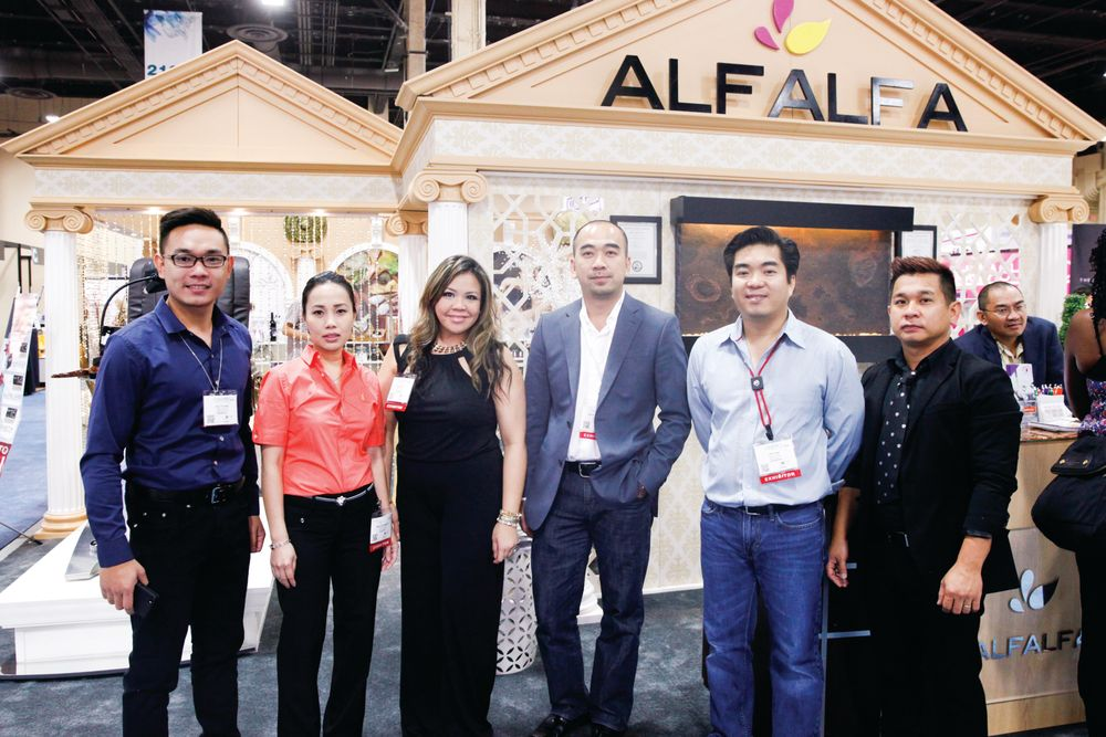 <p>Alfalfa Nail Supply&rsquo;s Duy Truong, Ngoc Anh Nguyen, Kathy Phan, Kevin Nguyen, Phi Tran, and Hien Ton promoted a new, elevating pedicure spa.</p>