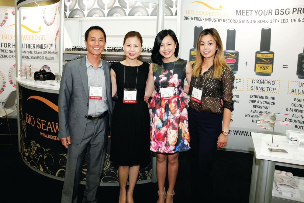 <p>The Bio Seaweed Gel family with Michael, Amy, Hellen, and Sarah Luu demoed the company&rsquo;s newest products.</p>