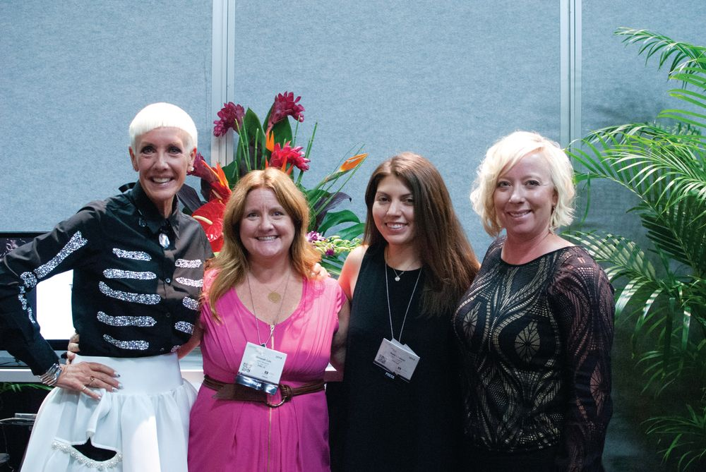 <p>Jan Arnold, editor Hannah Lee, senior editor Beth Livesay, and Elyce DeBrown discussed all things CND, including NAILS Next Top Nail Artist.</p>