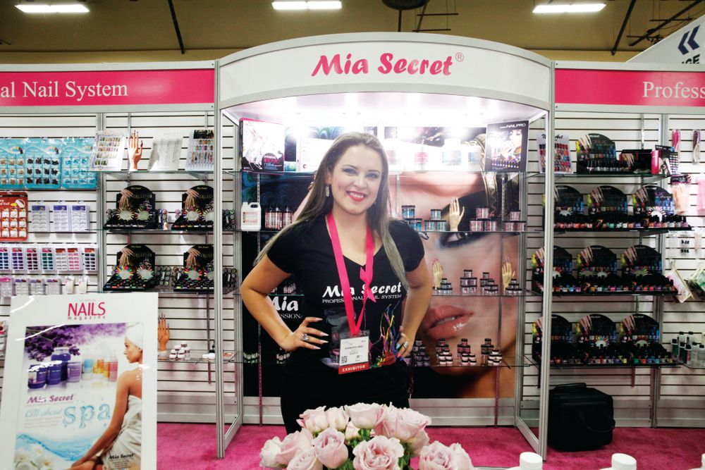 <p>Mia Secret&rsquo;s Eva Montelongo demonstrated a new and affordable nail dust vacuum.</p>