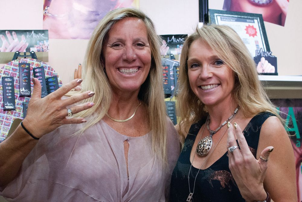 <p>Minx&rsquo;s Janice Jordan and Dawn Lynch-Goodwin show off their new lines, including Basquiat and Accents.</p>