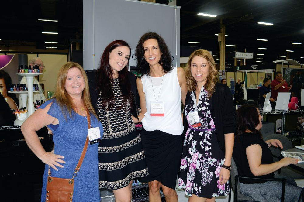 <p>Hannah Lee, Elaine Watson, Christina Jahn, and Arica Carpenter chatted about Cuccio&rsquo;s new colors, collections, and spa starter kits.</p>